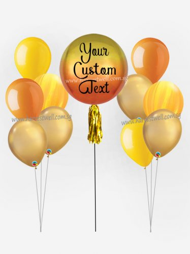 Personalize ORBZ Ombre Shine Bright Balloon Bundle Set