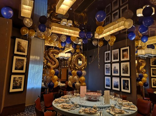 Private Dining Room Balloon Arrangement