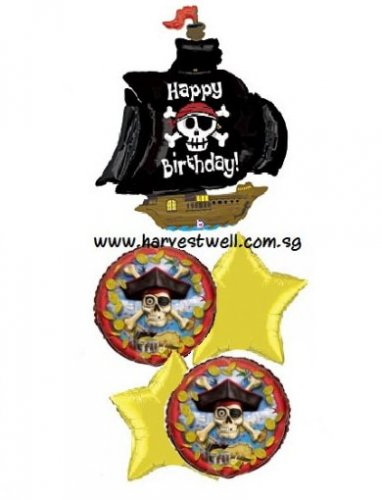 Pirate Ship Birthday Party Balloon Package