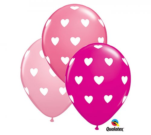 Big Heart (Pink) Helium Latex Balloon