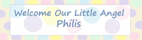 Welcome Baby Polka Dots Customized Banner