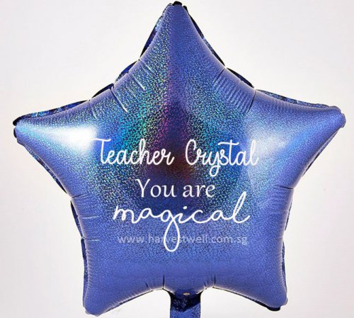 "Customize Print Magical Teacher on 18"" Foil Balloon"