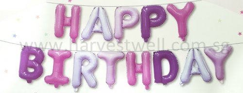 Happy Birthday Pastel Mini Letter Balloon Set
