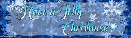 Blue Snowflakes Christmas Customized Banner