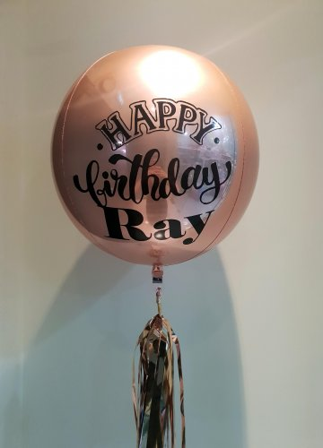 Customize Happy Birthday Outline ORBZ Balloon