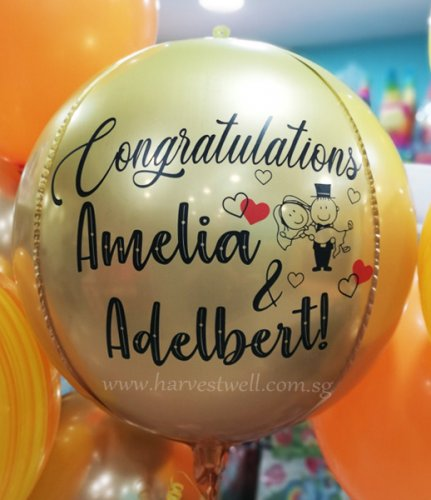 Congratulations Wedding Customize ORBZ Balloon