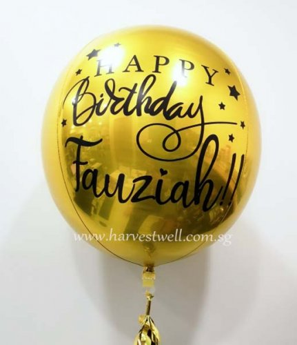 Customize Birthday Fancy ORBZ Balloon