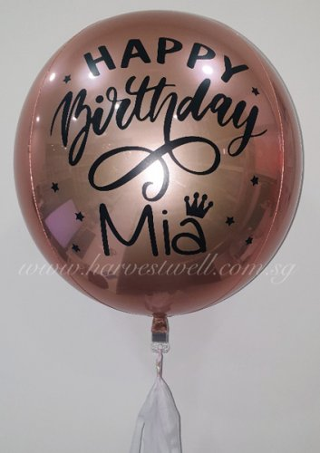 Customize Birthday Princess Design ORBZ Balloon