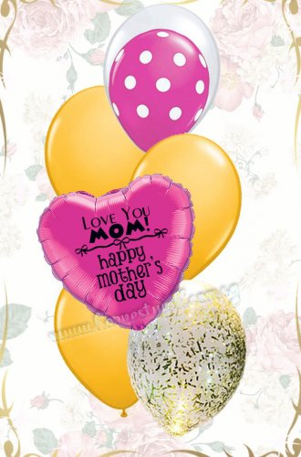 Love You Mom! Happy Mother's Day Balloon Bouquet