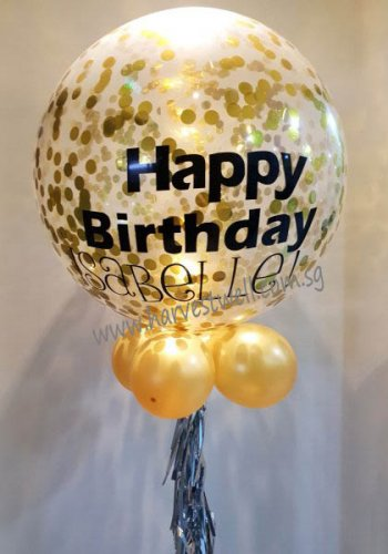 Personalized Jumbo Birthday Helium Latex Balloon
