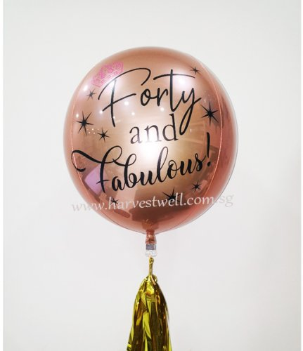 Customize Forty and Fabulous ORBZ Balloon