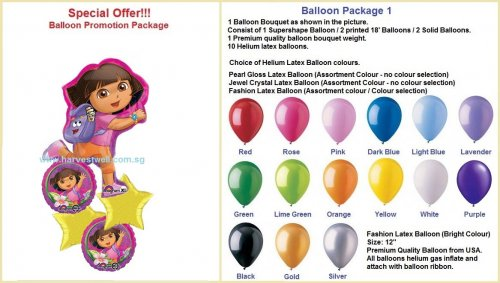 Dora the Explorer HBD Balloon Package