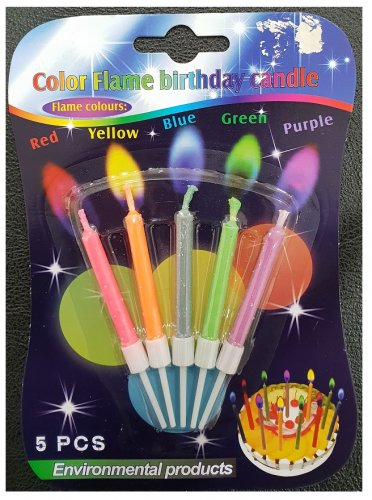 Colour Flame Birthday Candle
