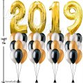 Gold Megaloon Number 2019 Helium Balloon Column