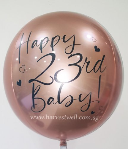 Rose Gold Lovely Customize ORBZ Balloon