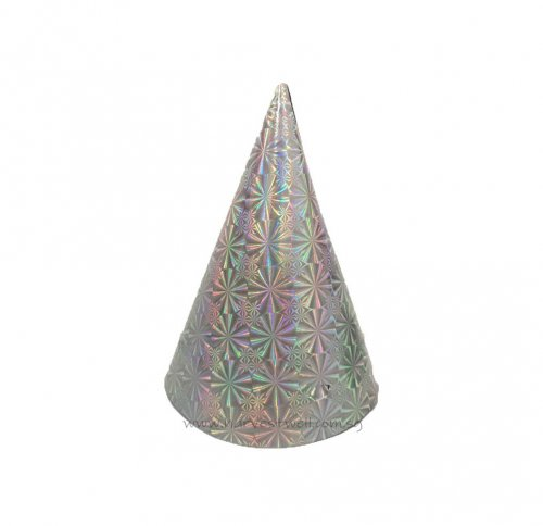 Holographic Silver Party Hat