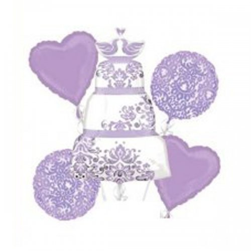 Lilac Wedding Cake Balloon Package