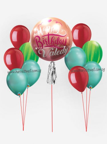 Personalize ORBZ Ombre Orange Red Balloon Bundle Set
