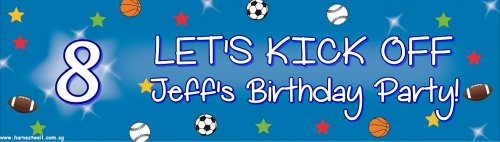 Birthday Sports Customized Banner