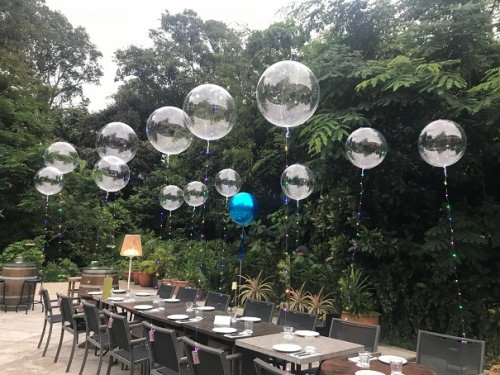 LED lightup balloons use for outdoor dining