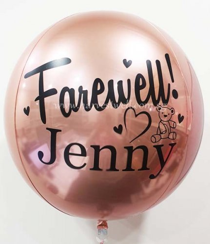 Farewell Heart Customize ORBZ Balloon