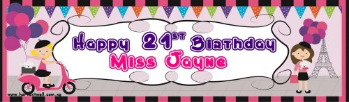Little Lady Birthday Customized Banner