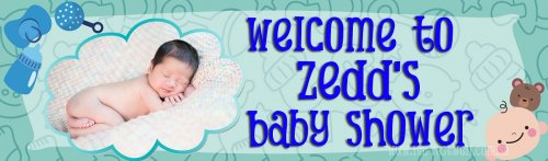 Baby Boy Shower (Photo) Customized Banner