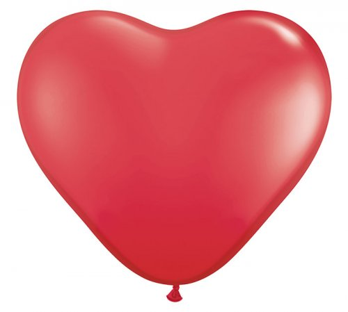 RED HEART SHAPED Helium Latex Balloon