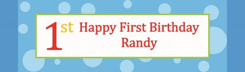 Birthday Boy Polka Dots Customized Banner