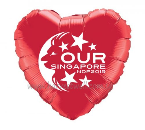Customize Heart Foil Balloon for NDP 2019