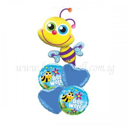 Happy Bee Welcome Baby Balloon Package