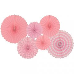 Pink Themed Paper Fan D.I.Y Set