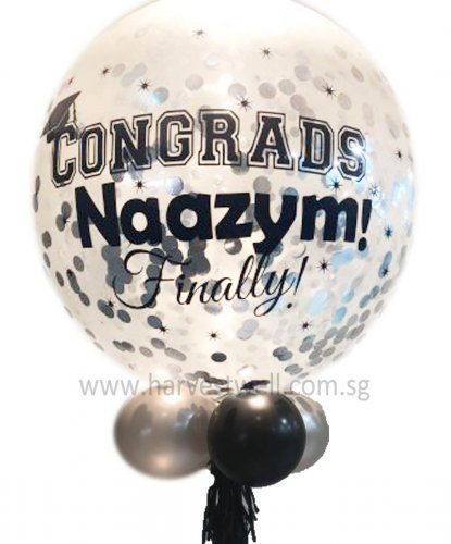 Congrads!Personalized Jumbo Helium Latex Balloon