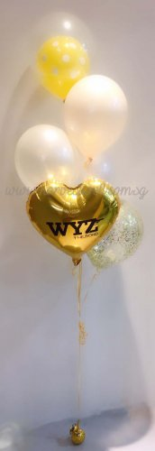 Customize Gold Birthday Balloon Bouquet