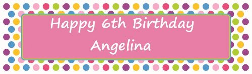 Bright Polka Dots Pink Customized Banner