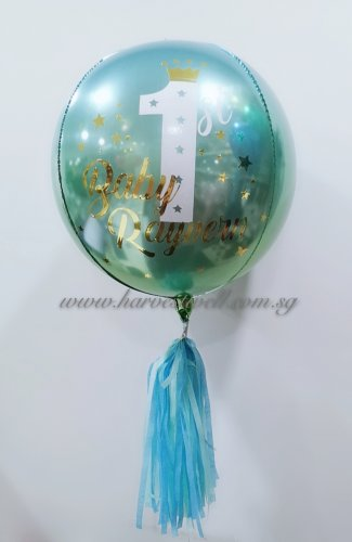 Customised 1st Birthday Little Prince Orbz Balloon