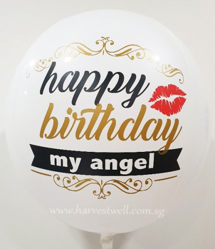 White Angel Customize ORBZ Balloon