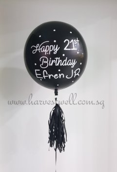 Customize Happy Birthday Polka Dots ORBZ Balloon