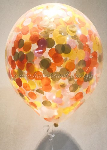 Confetti Helium Latex Balloon (Autumn)
