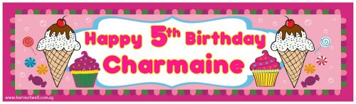 Sweetie Birthday Party Customized Banner