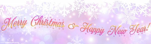 Sparkles Pastel Snowflakes Customized Banner