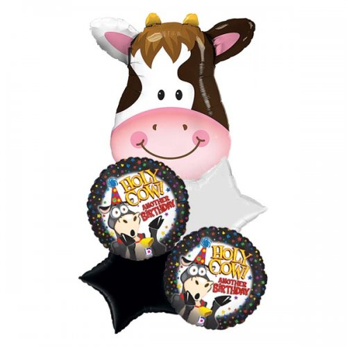 Holy Cow Head Birthday Balloon Package