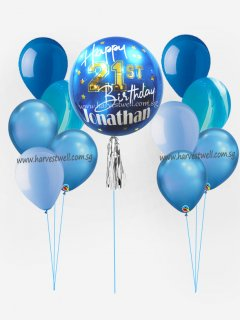Personalize ORBZ Saphire Blue Balloon Bundle Set