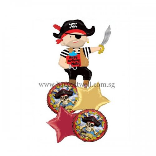 Pirate Happy Birthday Balloon Package