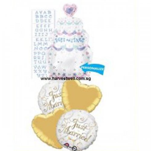 Best Wishes Just Married Balloon Package
