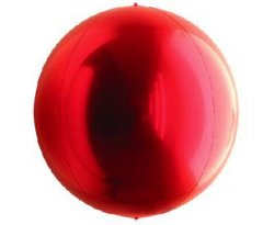 Red ORBZ Foil Balloon