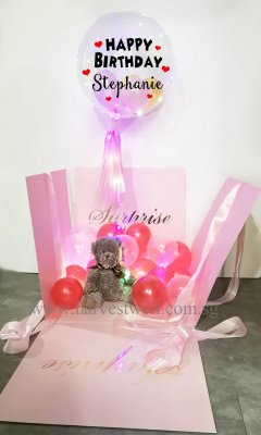 Customize Surprise Balloon Gift Box with Bubble Balloon