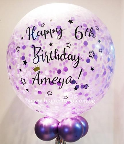 Twinkle Birthday Personalized Jumbo Helium Latex Balloon