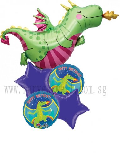 Daphne Dragon Happy Birthday Balloon Package