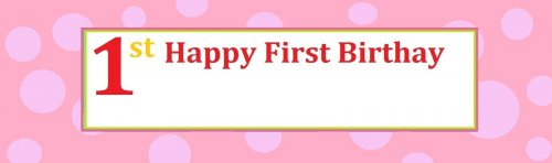Birthday Girl Polka Dots Customized Banner